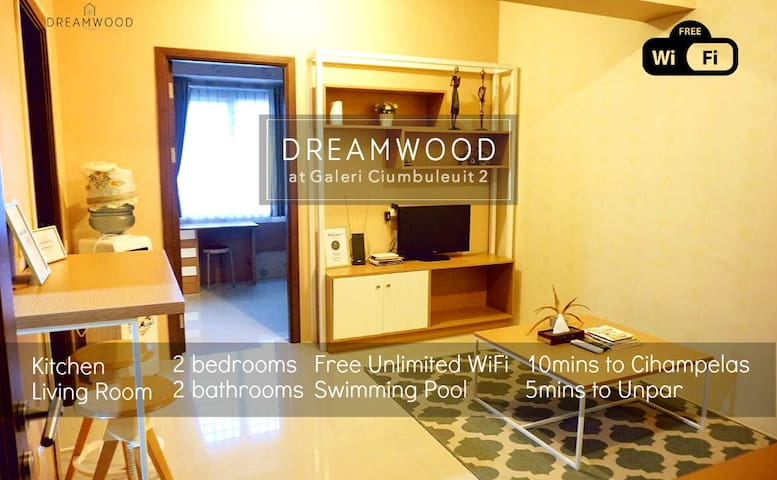 DreamWood @ Galeri Ciumbuleuit Apt 2 - Bandung - Appartement