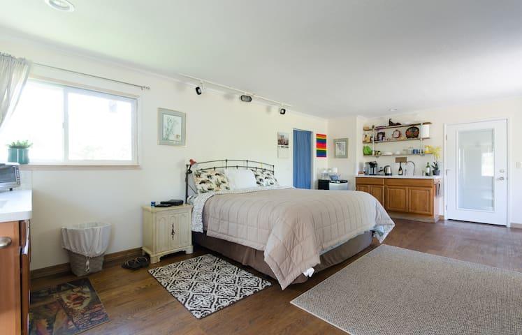 Large, Cozy Ranch Studio with Pool - Pleasanton - Radhus