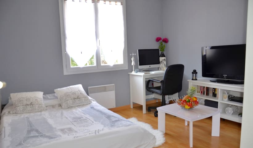 Petite chambre à la campagne avec SDB privative - Châteauneuf-sur-Loire - Casa