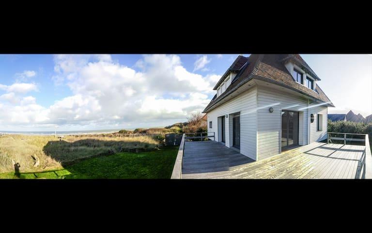 Maison face Mer dans les Dunes - Merville-Franceville-Plage - Casa