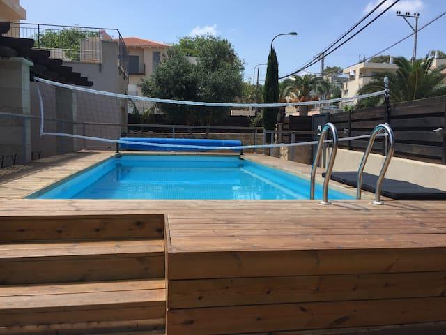 Kosher Villa with swimming pool in Zikhon Yaacov - Zikhron Ya'akov - Villa
