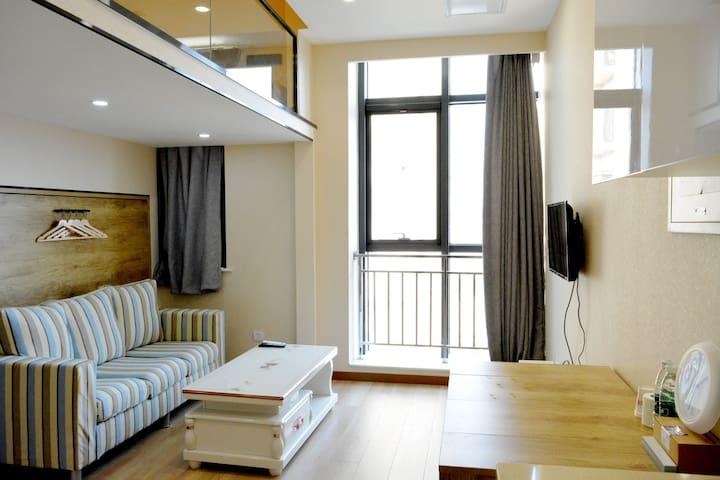 地铁直达西单北京南站天街购物中心时尚LOFT独立公寓短租 - Beijing - Departamento