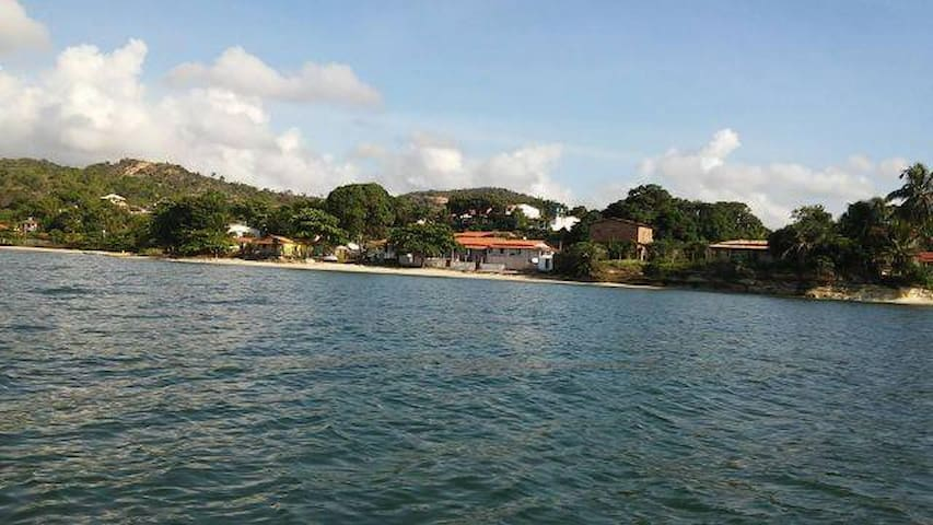 Casa Avarandada em Frente ao Mar na Bahia - Saubara - Casa