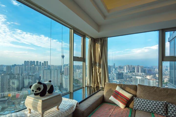 繁华中心的地带,便捷的交通。览城市的全貌,尽在我的公寓 - Chengdu
