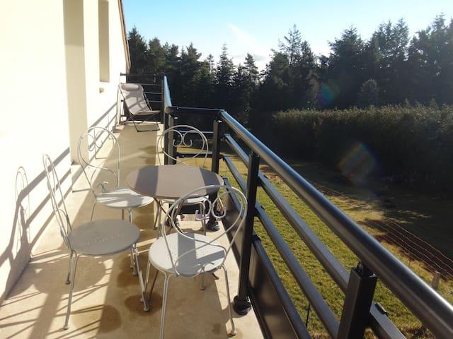 Aydat 300 mètres du lac ,appartement avec terrasse - Aydat - Appartement