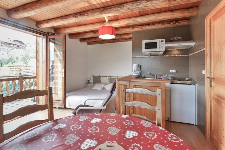 studio facing Mont Blanc - Domancy - Apartmen