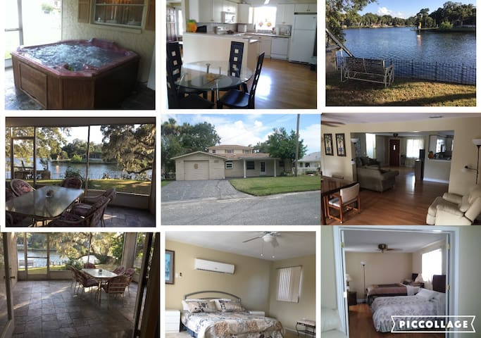 Waterfront 3/3 Home/Dock, direct to Gulf of Mexico - New Port Richey - Casa
