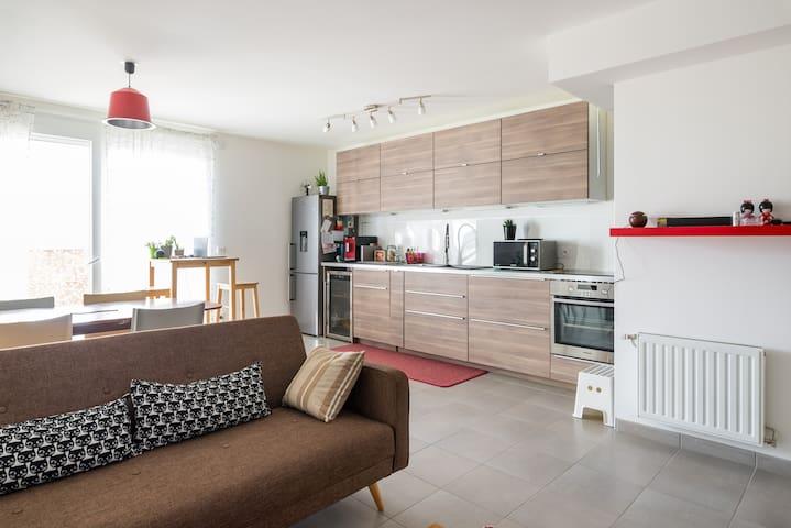 Chambre dans T4 confortable proche PartDieu - Villeurbanne - Huoneisto