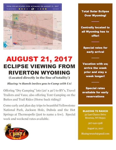 Eclipse Viewing; Blazing 7s Ranch - Dry Camping - Riverton - Diğer