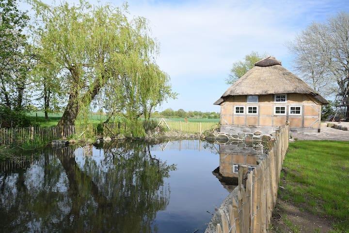 Reetdachkate mit Sauna, 800 m von der Ostsee - Pommerby - Maison