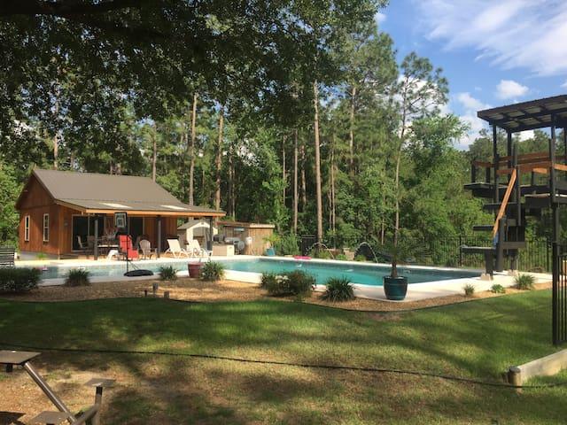 The Lightle Lodge Pool House - Statesboro - Pension