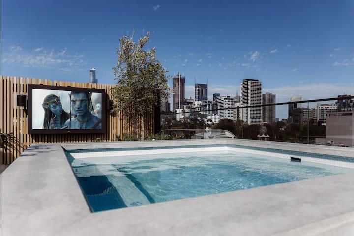 Japanese-inspired theme unique luxury apartment - West Melbourne - Apartmen