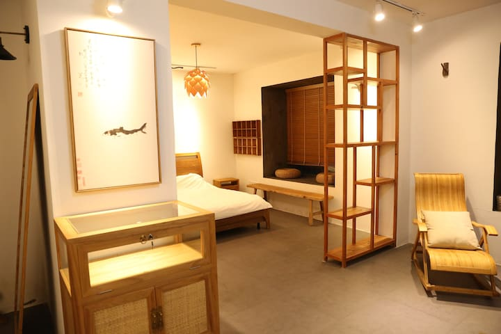 近宋城之江度假村美院附近 70平米古朴中国风大一居室 - Hangzhou - Apartament
