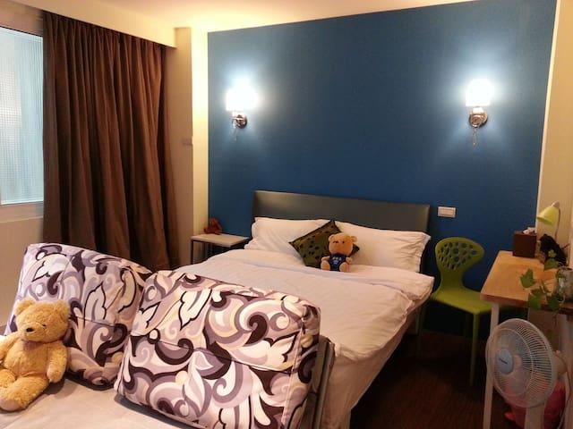 香草熊夜市套房B&B - Luodong Township - Appartement