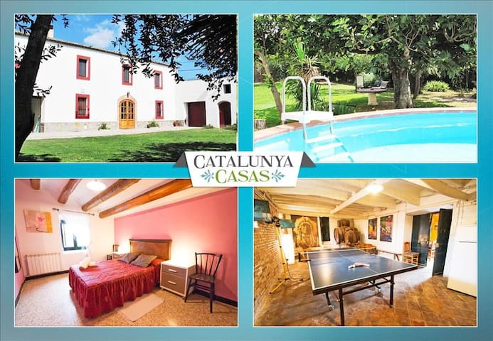 Masia for 10 people, in the heart of Spanish wine country! - Sant Martí Sarroca - Villa