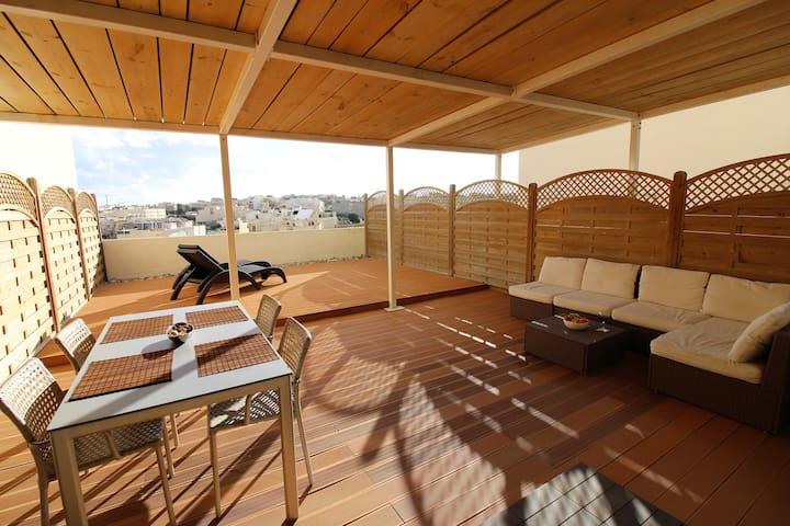 Duplex Roof Terrace Apartment  - Birżebbuġa