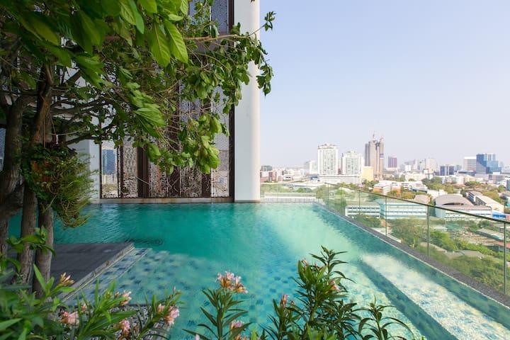 Designer loft +green view @tonglor - Bangkok - Daire