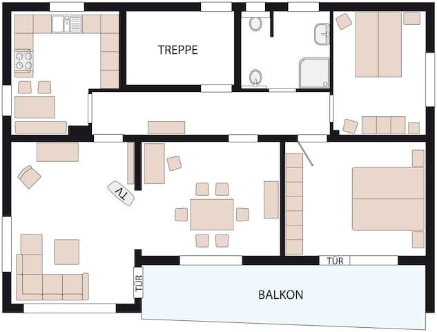 Ferienwohnung/Monteurswohnung - Bad Oeynhausen - Apartmen