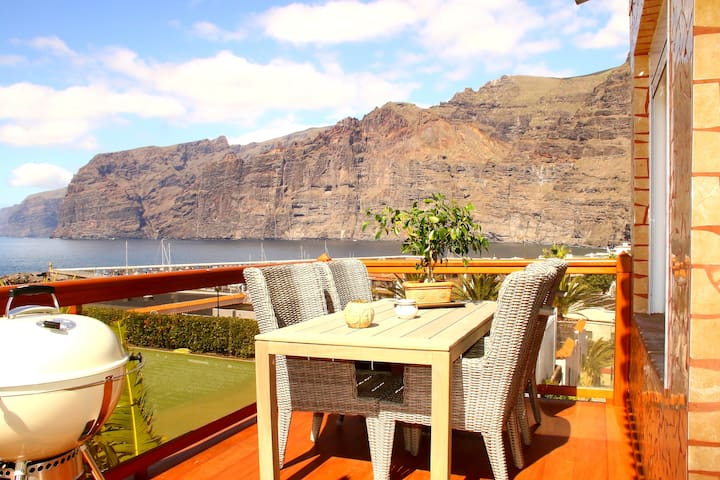 Luxury apartment + panoramic view - Santiago del Teide - Daire