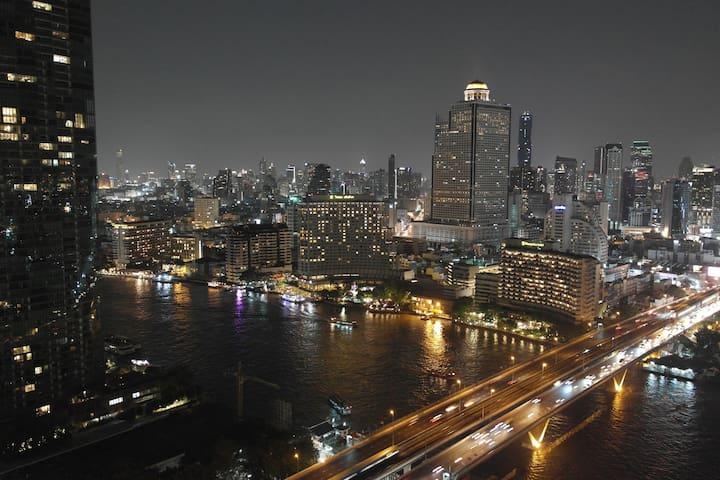 Chao Phraya River View - 75 m² - 30th Floor - BTS - Bangkok - Wohnung