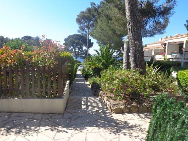 Studio 25m2 vue mer, accès direct à la plage - Roquebrune-sur-Argens