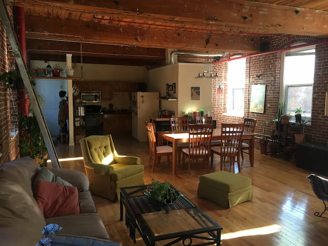 Spacious Canal District Loft! - Worcester