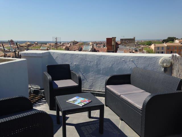 Duplex avec toit terrasse en centre ville - Aix-en-Provence - Leilighet