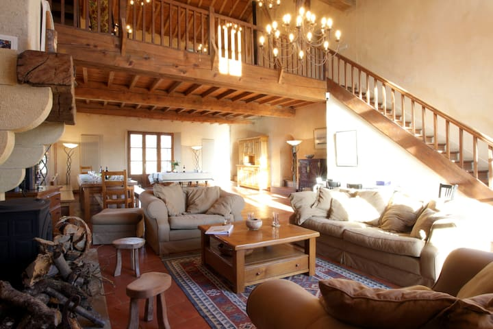 Very large house for 14 - relaxing/rural - St Felix de Tournegat - Rumah