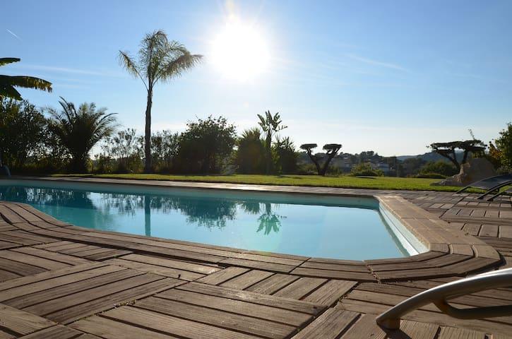 Villa / apartment 100m2 Panoramic view with pool - La Gaude - Talo
