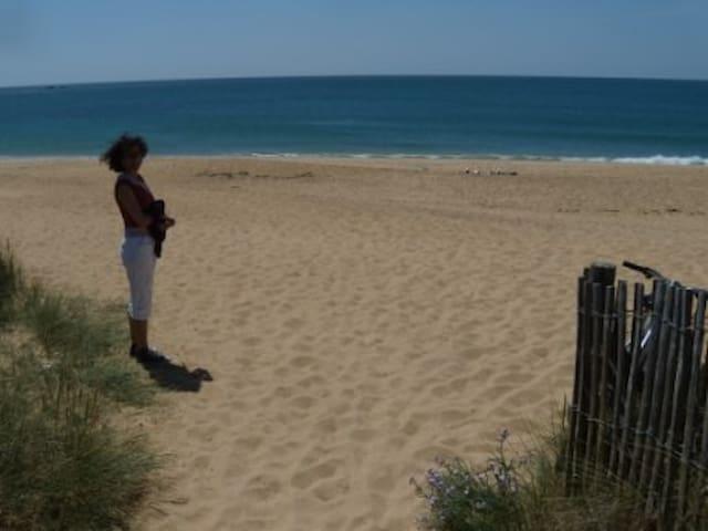 Erdeven maison charme vue mer plage à pied - Erdeven - Semesterboende