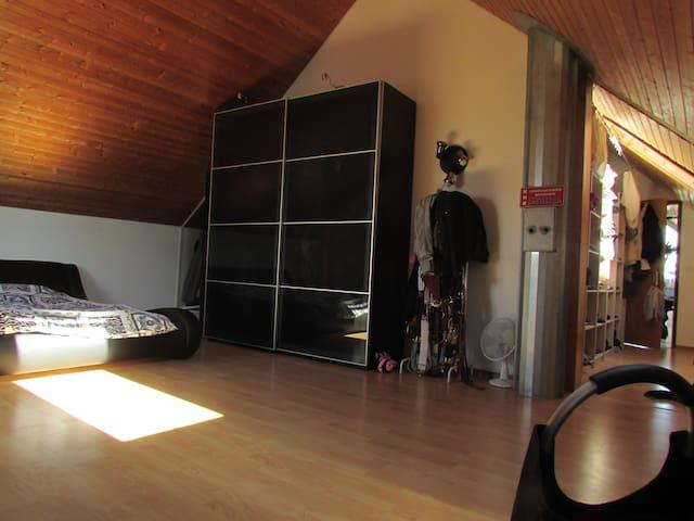 wunderschöne, helle und grosse Dachwohnung - Villmergen - Apartemen