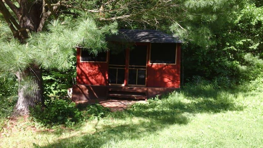 Rustic Cabin under the Pines - Freeville - Houten huisje