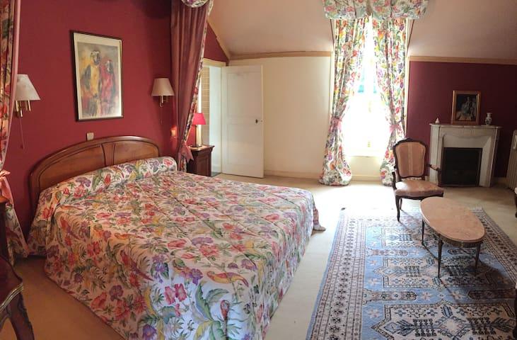 """Château de Montgoger """"Chambre Perroquets"""" - Saint-Épain - Гостевой дом"""