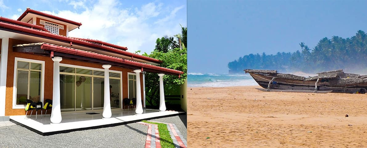 The Mud Hut-private,walled home near beach - Unawatuna