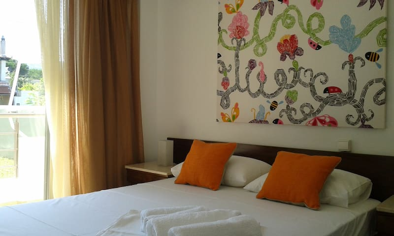 Double room seaside apartement - Agia Anna - Appartement