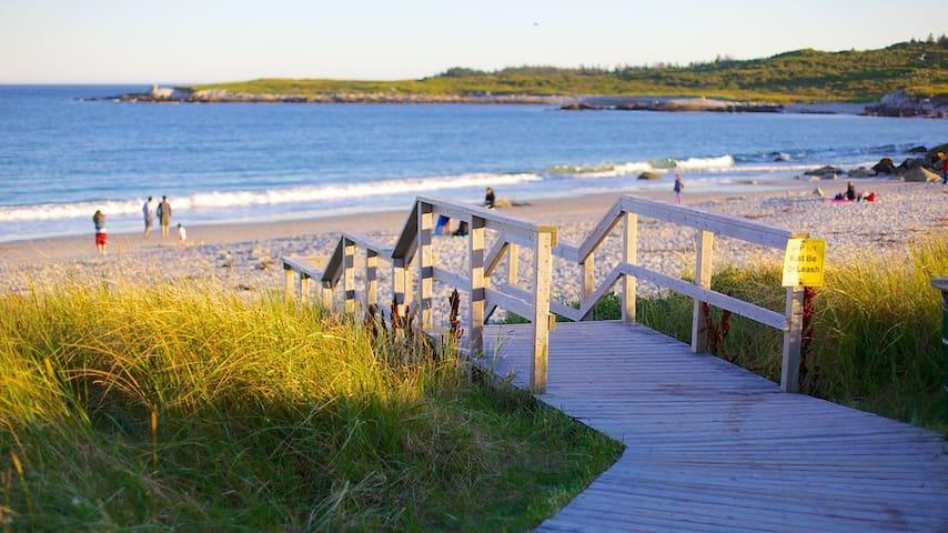 Ocean view, Local Beach, Bright private Den - Sambro
