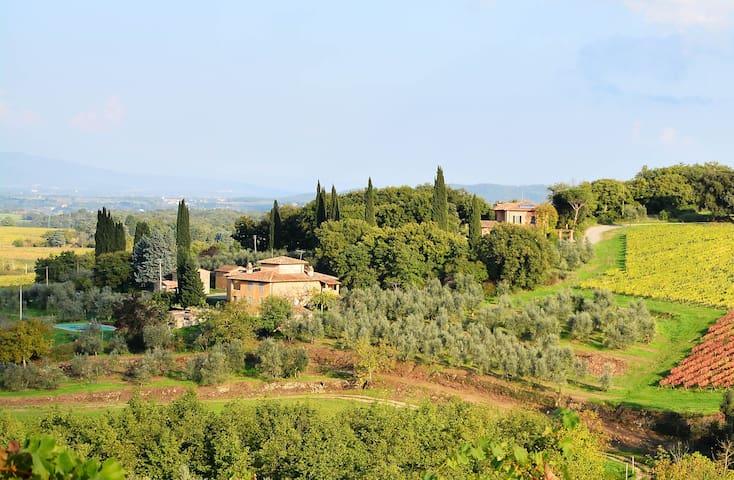 Private farmhouse with Pool, walk to Village. - Bucine - Villa