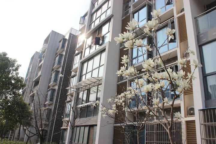 南京江宁大学城 地铁交院站 温馨2居 阳光房 落地窗 高档小区家庭套房 - Nanjing