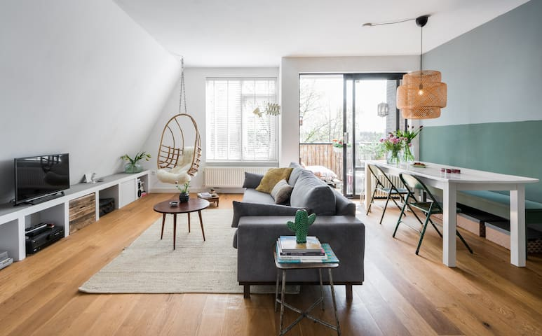 Cozy apartement with view near Adam - Zaandam - Huoneisto