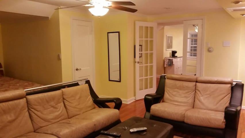 Studio/1 bed apt priv kitch,bath,parking,entrance - Fair Lawn - Appartement