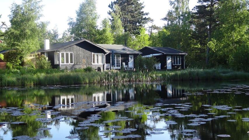 Fredfyldt sted med sø - nær strand - Fårevejle - Blockhütte