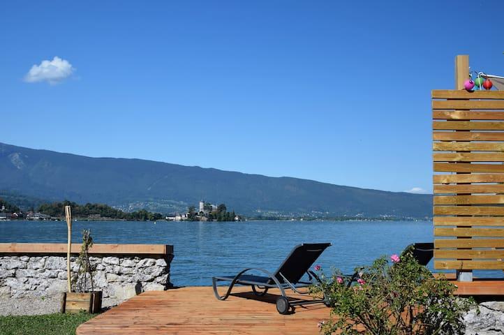Chambre double dans maison au bord du lac - Talloires-Montmin - Villa