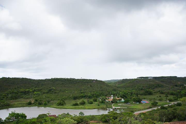Fazenda inteira para grupos próxima de Salvador - Araças - Houten huisje