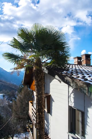 Appartement rez sup. vue sur vallée et lac - Giubiasco - Daire