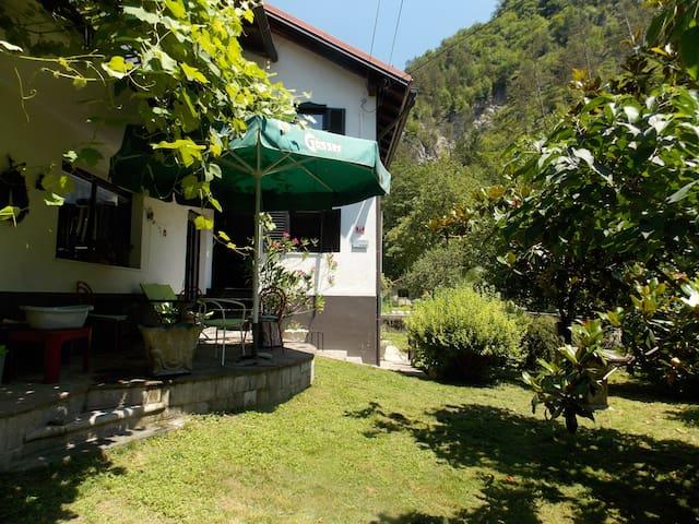 House by the creek, Tolmin - Poljubinj - Huis