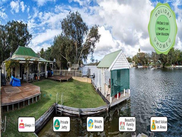 Mandurah Riverfront Holiday Rental - North Yunderup - Talo