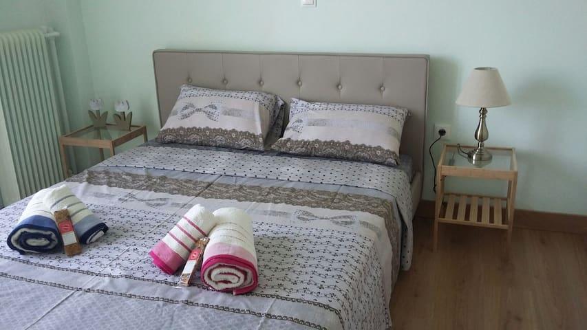 Cozy apartment 5' walk to the beach - Karistos