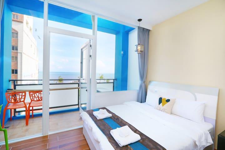 海景雙人房(B)-緊鄰市區的旅人窩 - Hualien City - Bed & Breakfast