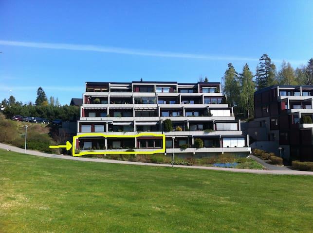 1 Room in apartment - Outside Oslo - Oppegard - Apartamento