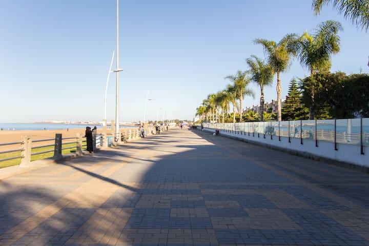 Ocean View appt + pool + parking - Mohammédia